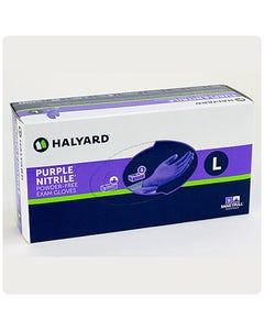 Halyard Powder-Free Purple Nitrile Exam Gloves (formerly Safeskin)