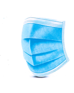 Cotton 3-Ply Disposable Mask with Earloop, 50 Pack