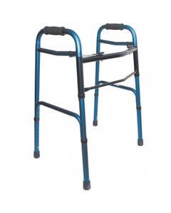 Adjustable Aluminum Walker - Blue