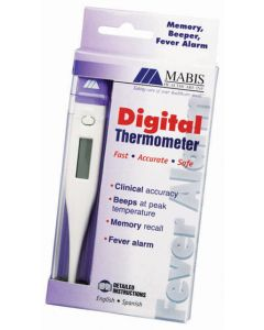 Mabis Digital Thermometer - Water Resistant