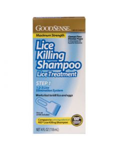 Goodsense Lice Killing Shampoo Maximum Strength Lice Treatment