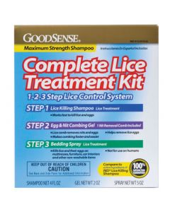 GoodSense Complete Lice Treatment Kit, Three Step Lice Elimination Kit