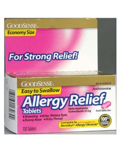 Allergy Relief Tablets 100 Pack