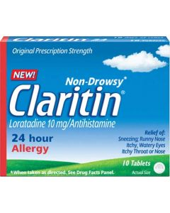 Claritin 24 Hour Allergy Non-Drowsy Non-Prescription Formula