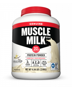 Muscle Milk Genuine Powder 4.9 lb Canister - Vanilla Creme