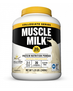 Muscle Milk Collegiate Powders 5.29 Canister - Vanilla Creme