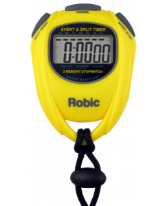 Robic SC-539 Single Event and Split Time Stopwatch Yellow