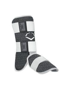 evoShield Protective Batters Leg Guard - Adult, Black